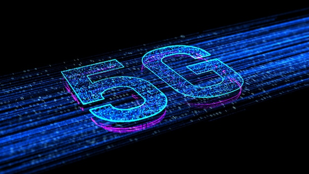5g high speed internet connection of internet of things iot