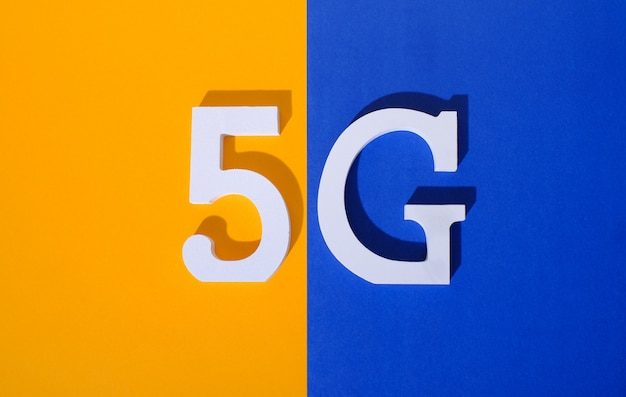 5g logo of 5th generation standard