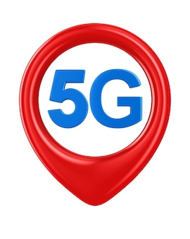 5g network. isolated 3d rendering