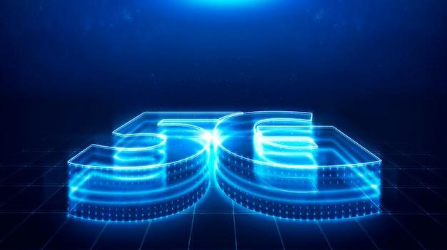 5g technology, speed technology, communication network concept.
