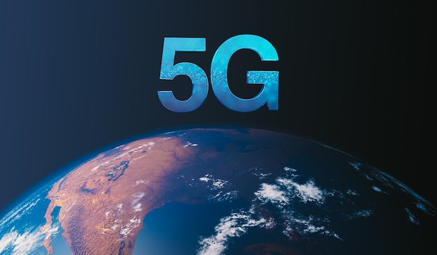 5g technology worldwide. 5g concept on earth