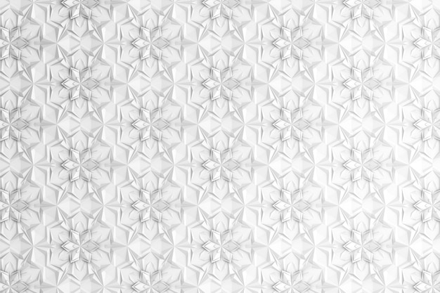 6本の尖った花を持つ3次元形状パターン