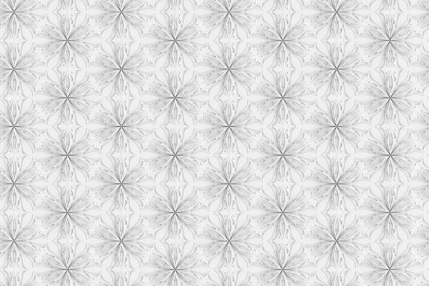 6先の尖った花の3次元光幾何学パターン