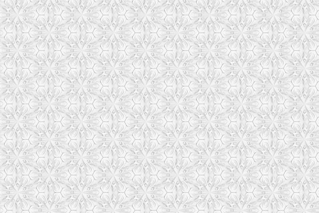 6先の尖った花を持つ3次元の光の幾何学パターン