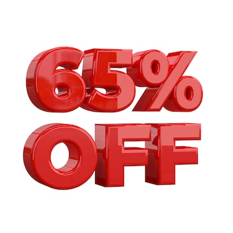 65% off, special offer, great offer, sale. sixty five percent