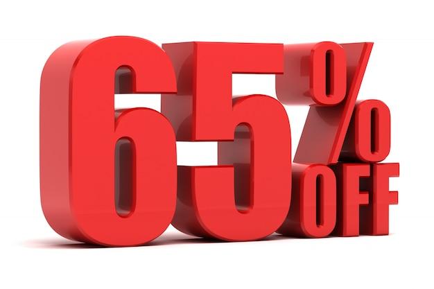 65 percent off promotion