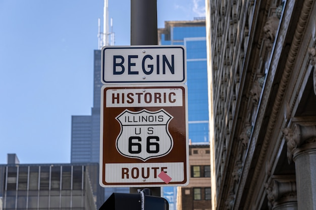 歴史的なルート66シカゴ