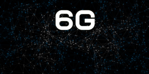6g新しいワイヤレスwifiインターネット接続ハイパーリンク通信の背景接続、