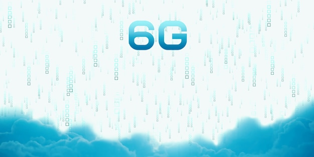 6g technology network, high speed mobile internet concept of communication and transmission