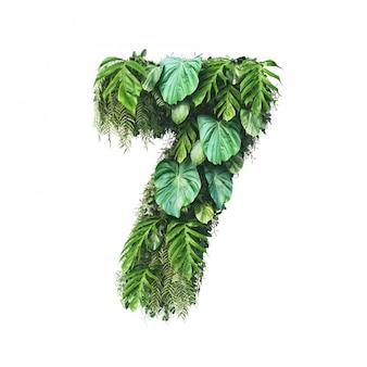 垂直庭番号7の3 dレンダリング