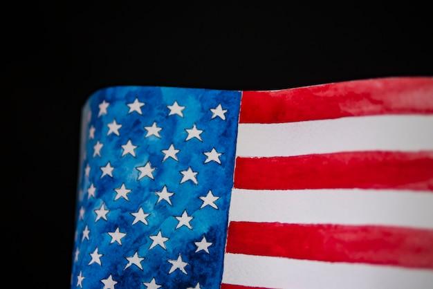 独立記念日アメリカ7月4日。アメリカの国旗