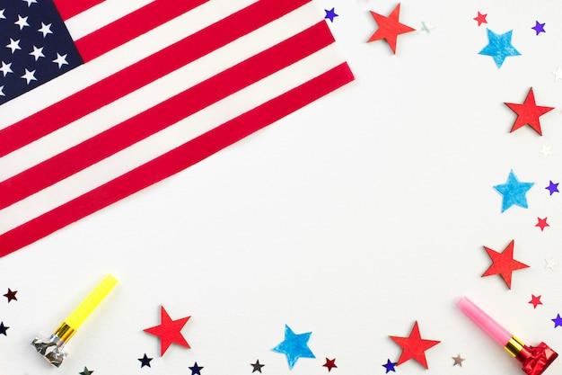 7月4日、独立記念日の背景の概念