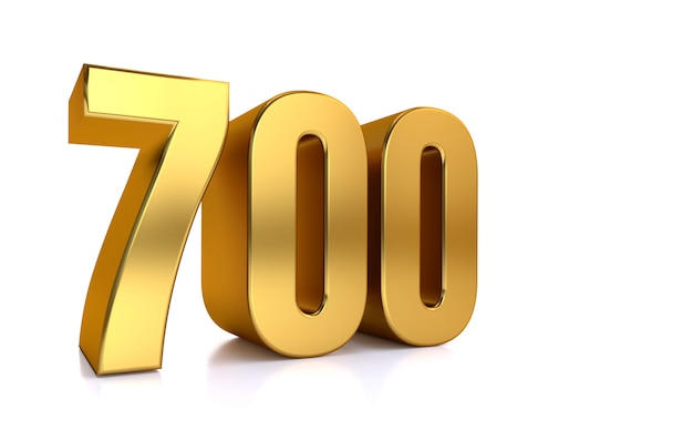 700、3 dゴールデン番号700