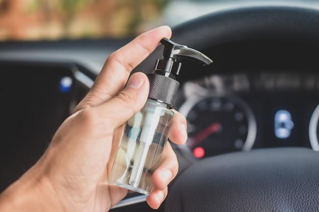 Алкоголь гель для мытья и чистки рук для предотвращения вируса короны в автомобиле, алкоголь 70%