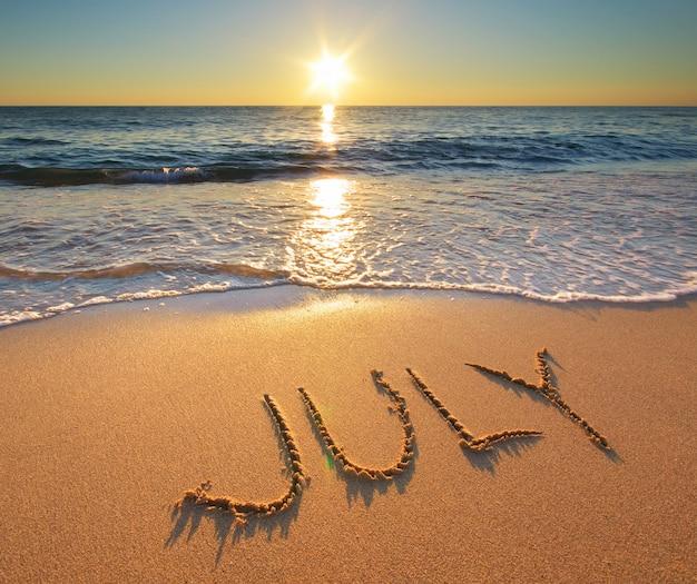 海の上の7月の言葉
