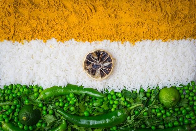 インド独立記念日8月15日コンセプト:インドの国旗