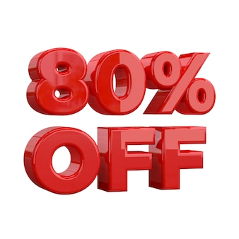 80% off, special offer, great offer, sale. eighty percent