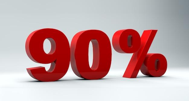 배경에 90 % 할인 판매 개념
