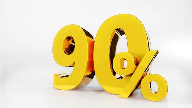 90% golden symbol