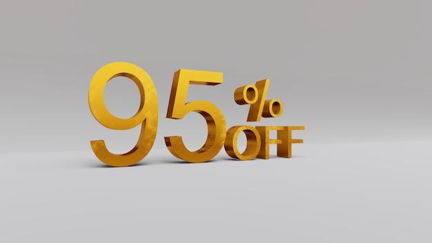 95 percent discount 3d rendering
