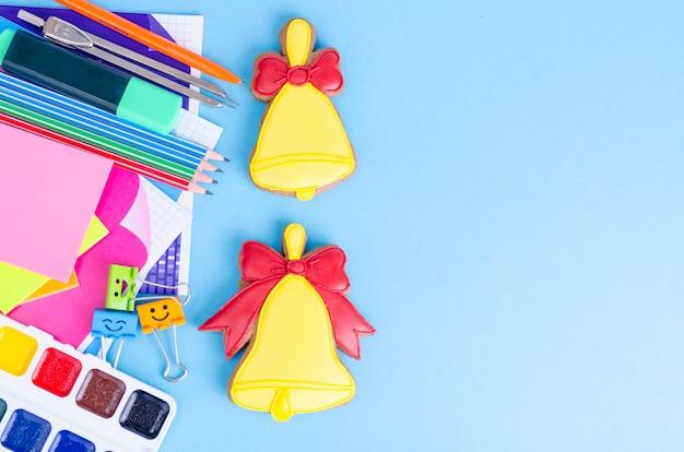 9月、学校の始まり、最初の鐘、勉強のための物資。