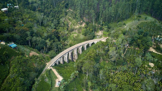スリランカの鉄道と9つのアーチ橋