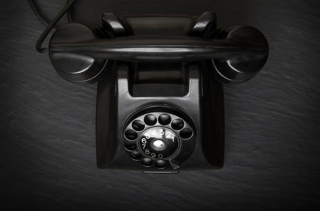 Вид сверху устаревшего телефона