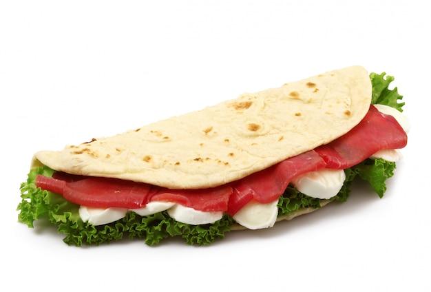 分離されたイタリアのフラットパン