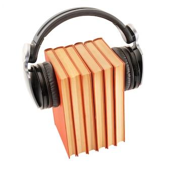デジタル読書用のヘッドフォン付きの本