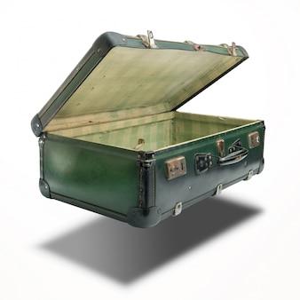 白のヴィンテージスーツケース