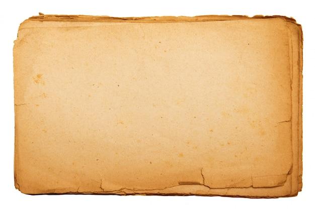 書き込むための空のスペースを持つヴィンテージ紙