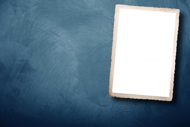 空白スペースを持つヴィンテージのカード