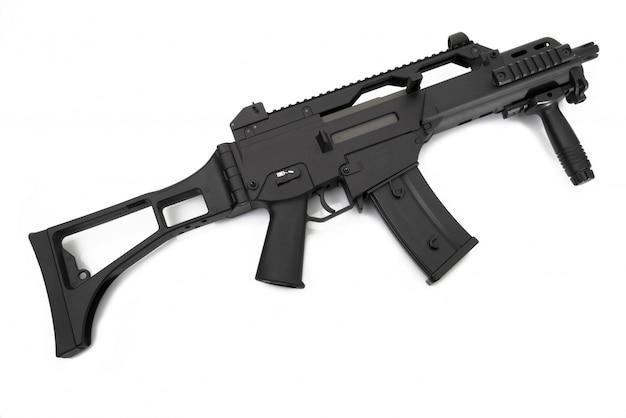 白の短機関銃