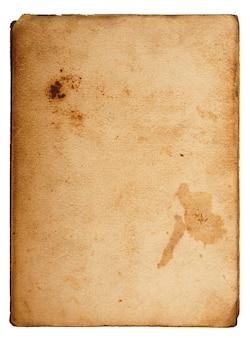 書く空白スペースを持つヴィンテージのカード
