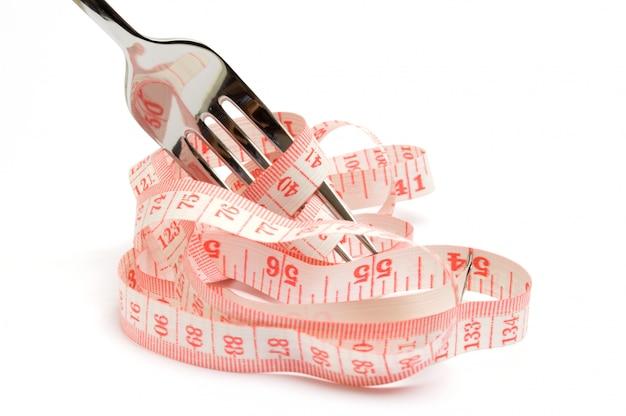 ダイエットのコンセプト、体重を減らして健康的な食事