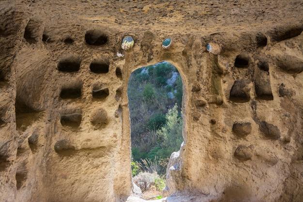 古代ビザンチンの村のカナロット-イタリア、シチリア島、カラシベッタの遺跡