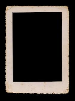 内部、空白のビンテージフレームのクリッピングパスと古い写真