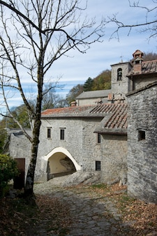 トスカーナ、イタリア、聖フランシスコ修道院のラヴェルナの聖域