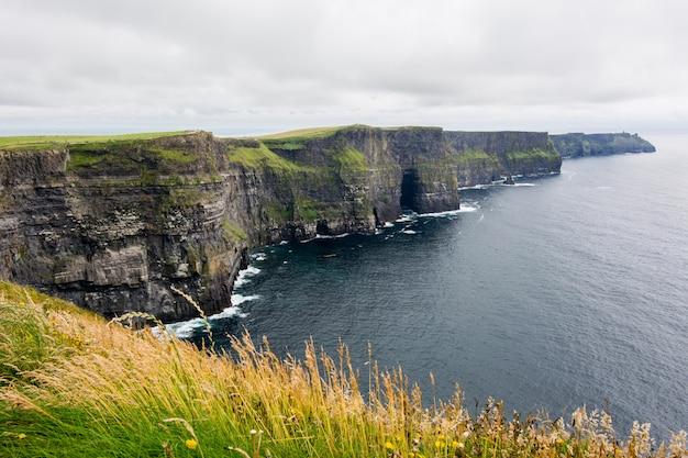 アイルランドの風景。モハーの断崖