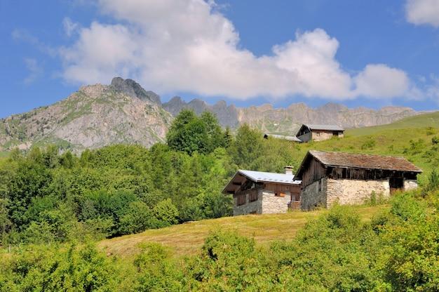 山の田舎の村