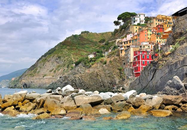 Деревня риомаджоре - италия