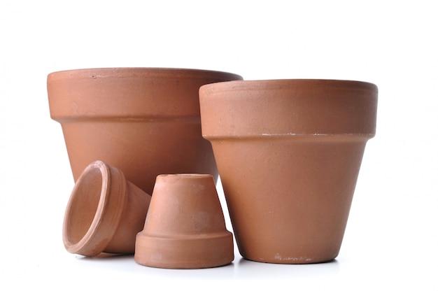 植木鉢の異なるサイズ