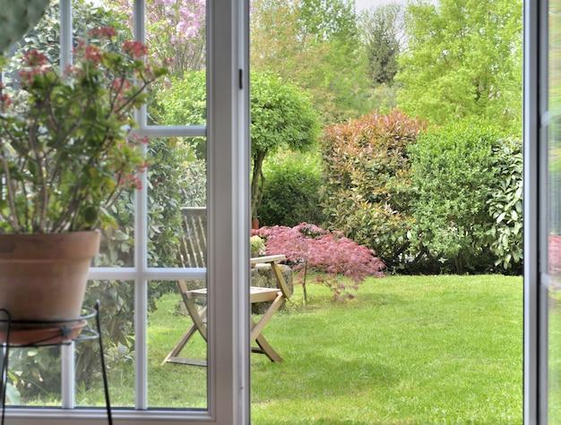 観賞用庭園の窓口