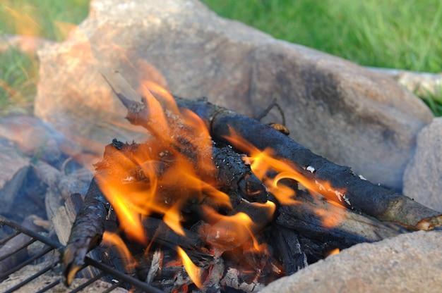 Закрыть на пламени костра