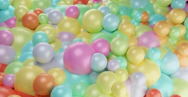 虹色のカラフルな分子抽象的な幾何学的な光る球形