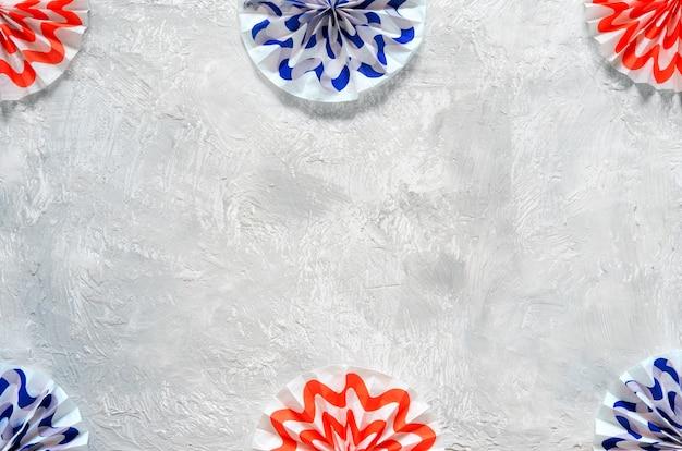 Патриотический фейерверк записки бумажная гирлянда