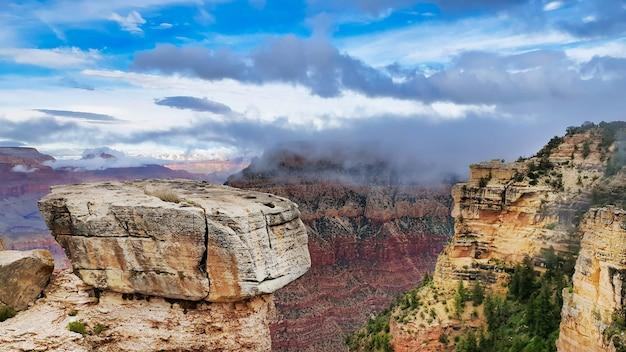 グランドキャニオン国立公園のパノラマビュー、アメリカ合衆国の観光地
