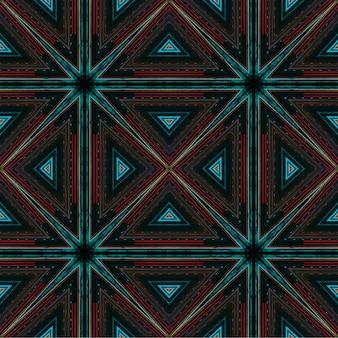 シームレスパターン幾何学的アート抽象的なデジタル背景ネオンの光の色とりどりの背景