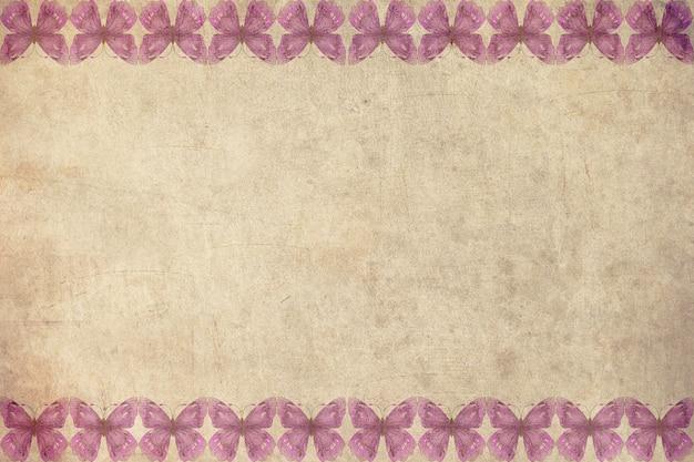 虹蝶の背景 - 古いポストカードスタイルの画像