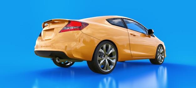 オレンジ色の小さなスポーツカークーペ